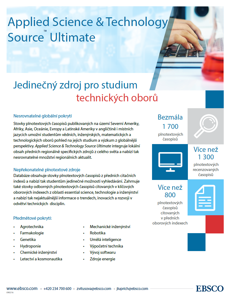 Leták - trial Applied Science and Technology Source Ultimate