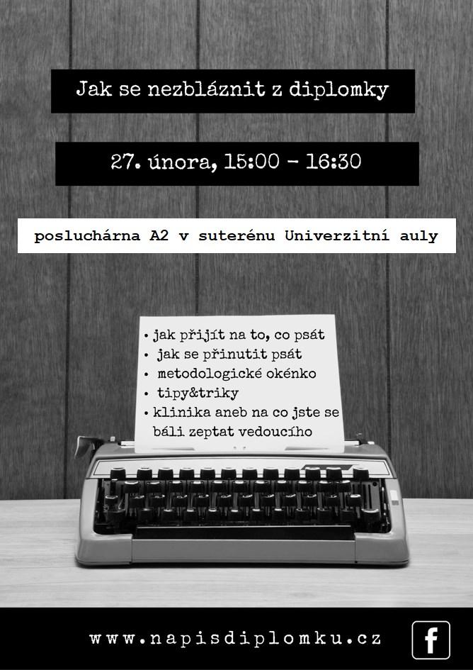 Plakát - seminář Jak se nezbláznit z diplomky
