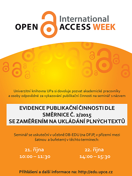 OA Week 2015 - seminář